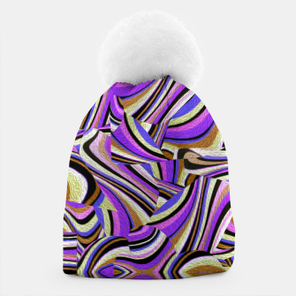 Groovy Retro Renewal - Purple Waves Beanie thumbnail image