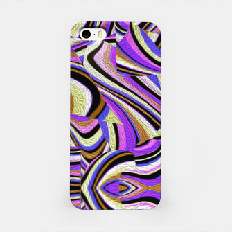 Groovy Retro Renewal - Purple Waves iPhone Case thumbnail image