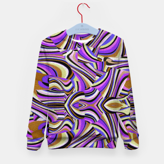 Groovy Retro Renewal - Purple Waves Kid's sweater thumbnail image
