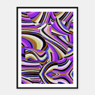 Groovy Retro Renewal - Purple Waves Framed poster thumbnail image