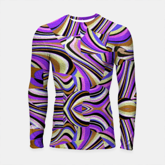 Thumbnail image of Groovy Retro Renewal - Purple Waves Longsleeve rashguard , Live Heroes