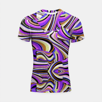 Groovy Retro Renewal - Purple Waves Shortsleeve rashguard thumbnail image