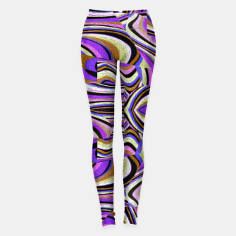 Thumbnail image of Groovy Retro Renewal - Purple Waves Leggings, Live Heroes