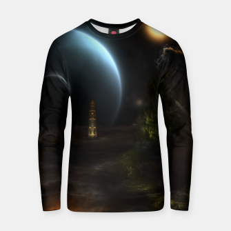 Thumbnail image of Unknown Frontiers Sci-Fi Fractal Space Fantasy Cotton sweater, Live Heroes
