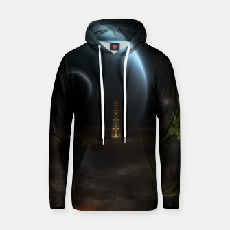 Thumbnail image of Unknown Frontiers Sci-Fi Fractal Space Fantasy Cotton hoodie, Live Heroes