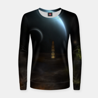 Thumbnail image of Unknown Frontiers Sci-Fi Fractal Space Fantasy Woman cotton sweater, Live Heroes