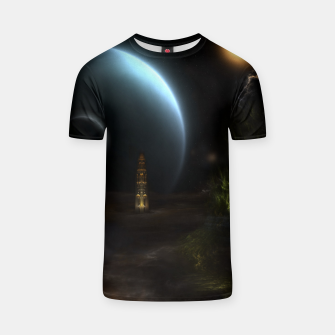 Thumbnail image of Unknown Frontiers Sci-Fi Fractal Space Fantasy T-shirt, Live Heroes