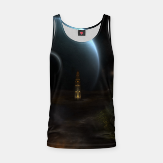 Thumbnail image of Unknown Frontiers Sci-Fi Fractal Space Fantasy Tank Top, Live Heroes