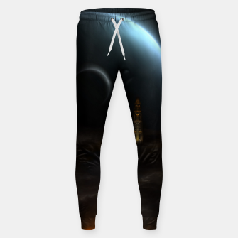 Thumbnail image of Unknown Frontiers Sci-Fi Fractal Space Fantasy Cotton sweatpants, Live Heroes