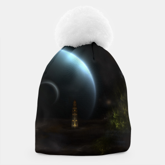 Thumbnail image of Unknown Frontiers Sci-Fi Fractal Space Fantasy Beanie, Live Heroes