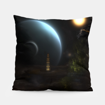 Thumbnail image of Unknown Frontiers Sci-Fi Fractal Space Fantasy Pillow, Live Heroes