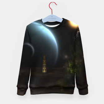 Thumbnail image of Unknown Frontiers Sci-Fi Fractal Space Fantasy Kid's sweater, Live Heroes