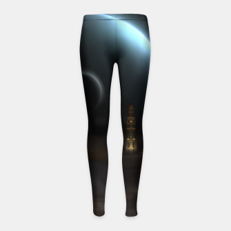 Thumbnail image of Unknown Frontiers Sci-Fi Fractal Space Fantasy Girl's leggings, Live Heroes