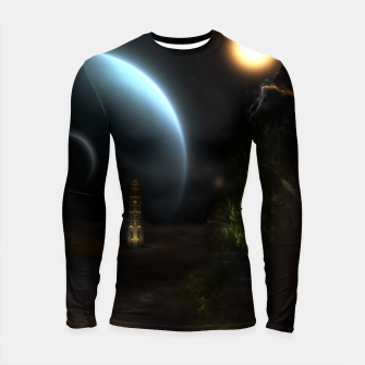 Thumbnail image of Unknown Frontiers Sci-Fi Fractal Space Fantasy Longsleeve rashguard , Live Heroes