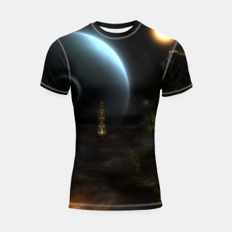 Thumbnail image of Unknown Frontiers Sci-Fi Fractal Space Fantasy Shortsleeve rashguard, Live Heroes