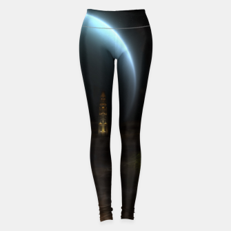 Thumbnail image of Unknown Frontiers Sci-Fi Fractal Space Fantasy Leggings, Live Heroes