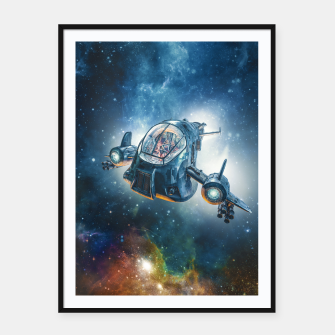 Thumbnail image of The Scout Ship Framed poster, Live Heroes