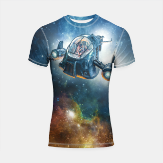 Thumbnail image of The Scout Ship Shortsleeve rashguard, Live Heroes