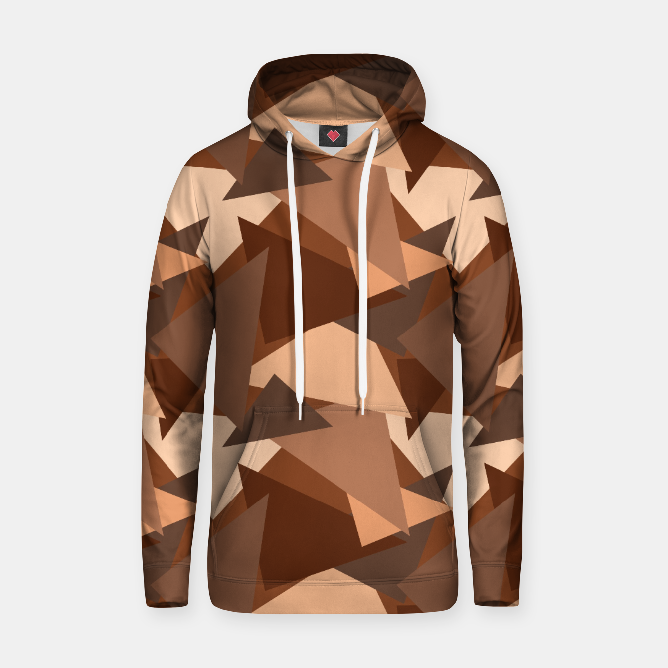 Image of Brown Chocolate Caramel  Triangles (Camouflage) Cotton hoodie - Live Heroes