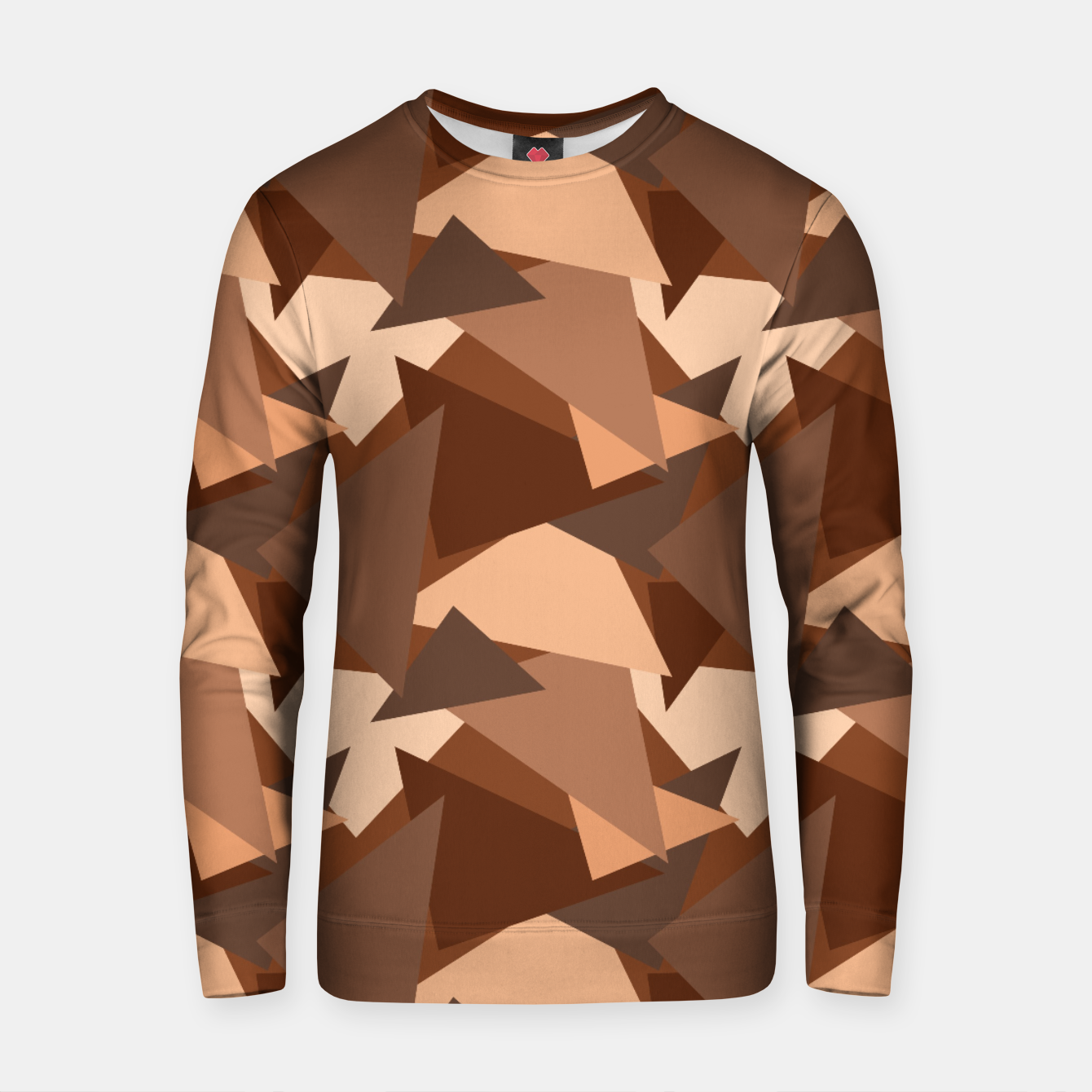 Image of Brown Chocolate Caramel  Triangles (Camouflage) Cotton sweater - Live Heroes