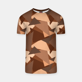 Brown Chocolate Caramel  Triangles (Camouflage) T-shirt thumbnail image