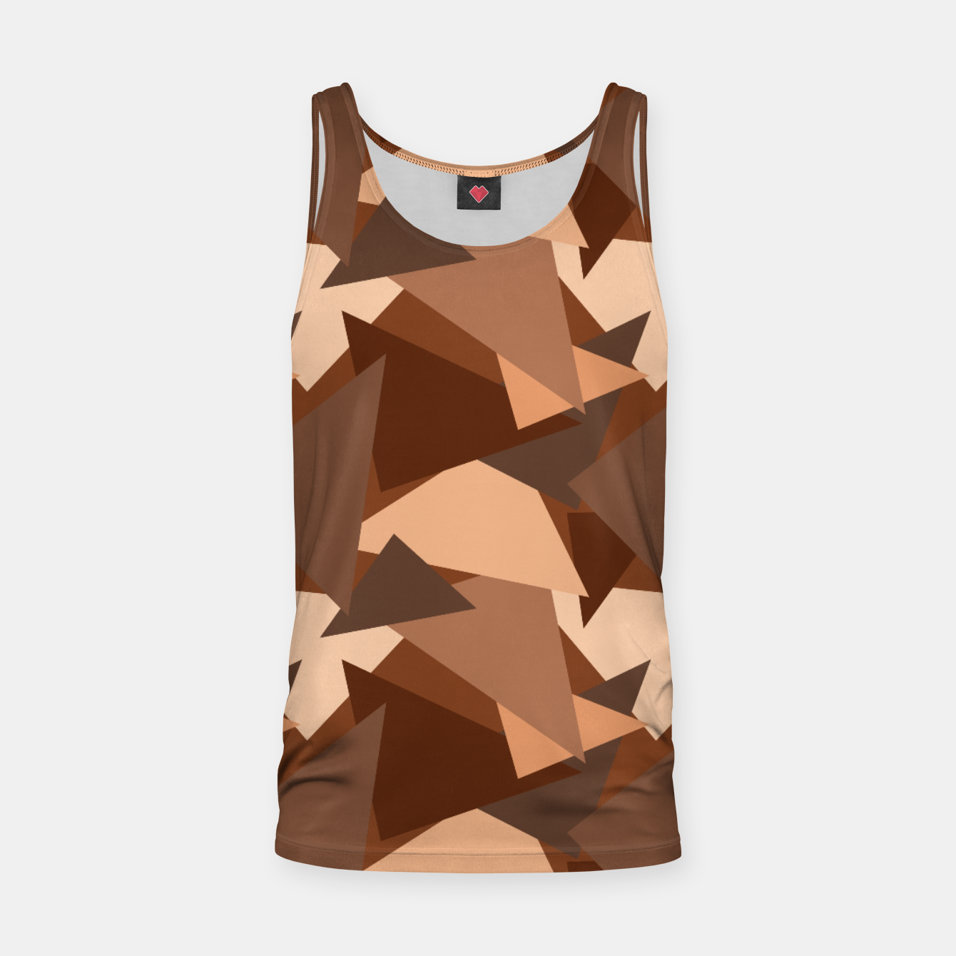 Image of Brown Chocolate Caramel  Triangles (Camouflage) Tank Top - Live Heroes