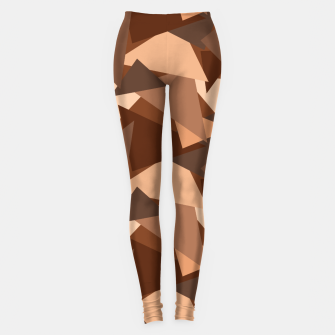 Thumbnail image of Brown Chocolate Caramel  Triangles (Camouflage) Leggings, Live Heroes