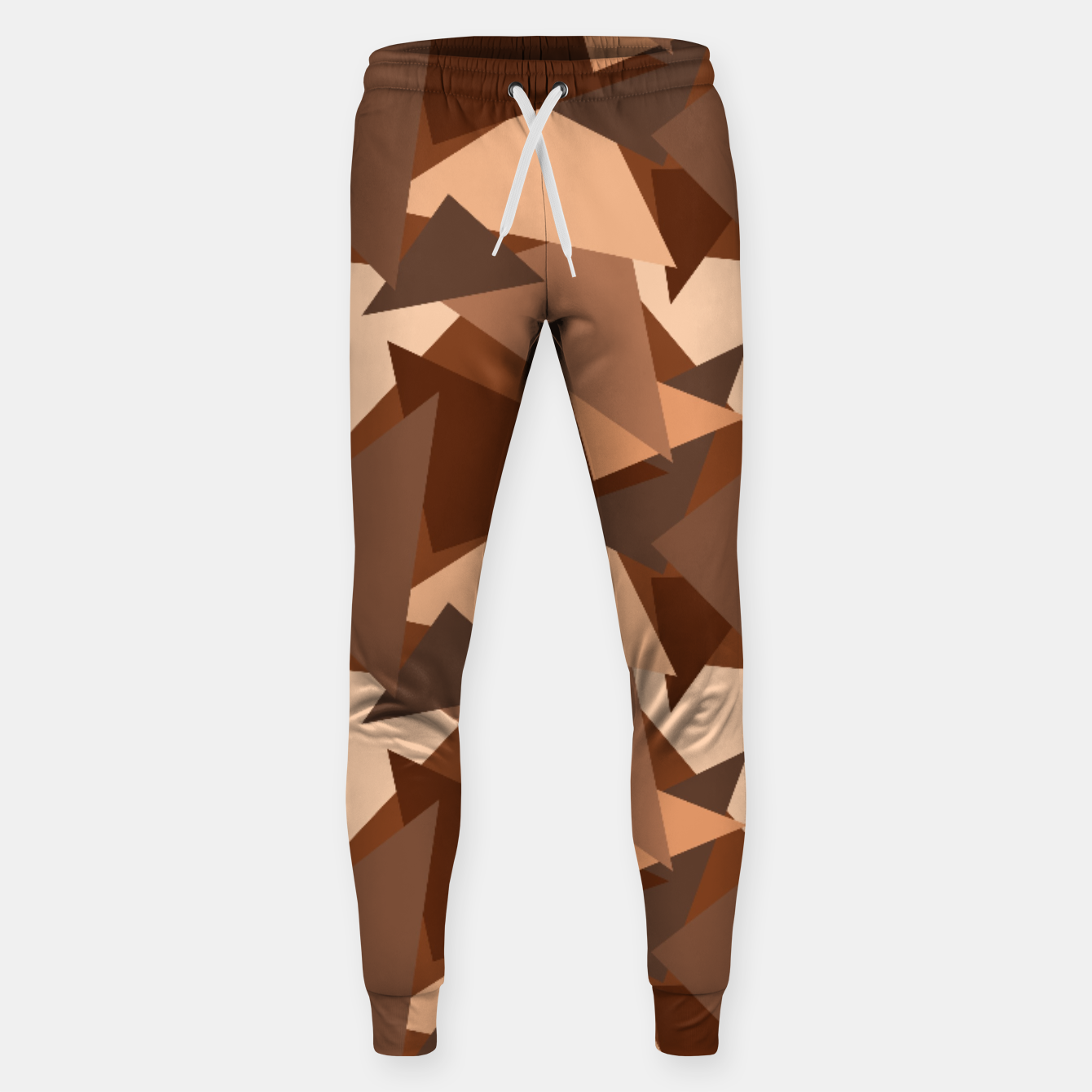 Image of Brown Chocolate Caramel  Triangles (Camouflage) Cotton sweatpants - Live Heroes