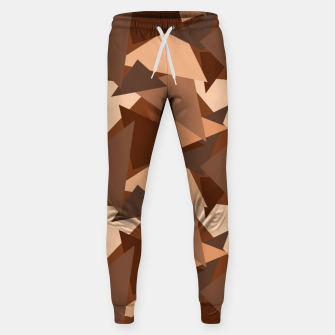 Miniature de image de Brown Chocolate Caramel  Triangles (Camouflage) Cotton sweatpants, Live Heroes