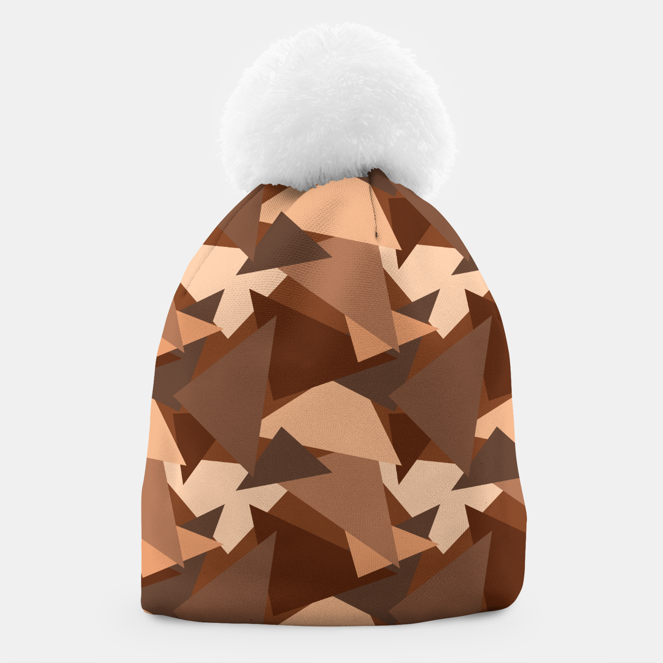 Image of Brown Chocolate Caramel  Triangles (Camouflage) Beanie - Live Heroes