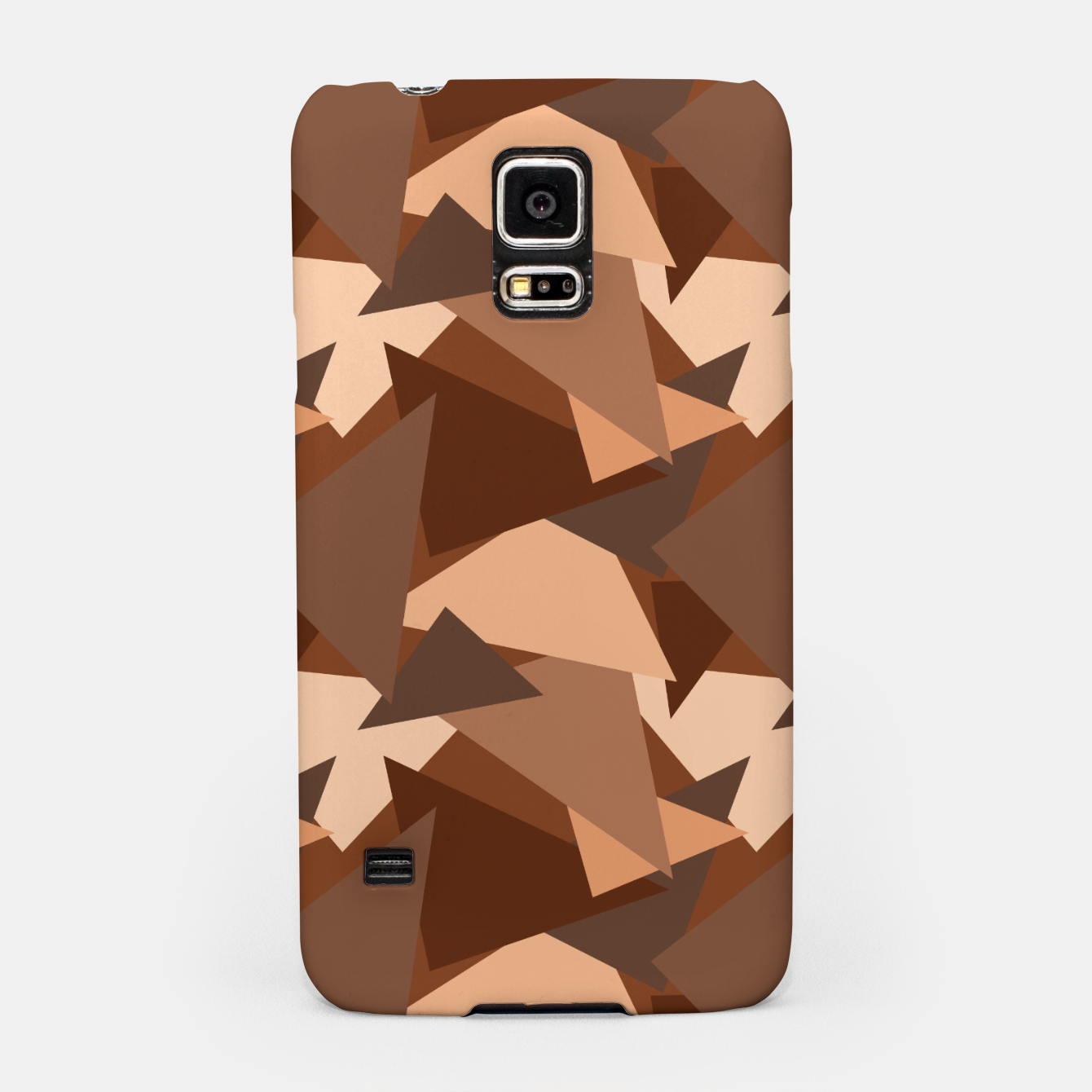 Image of Brown Chocolate Caramel  Triangles (Camouflage) Samsung Case - Live Heroes