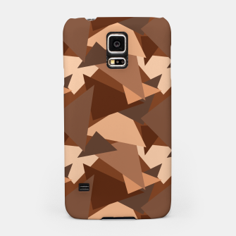Miniaturka Brown Chocolate Caramel  Triangles (Camouflage) Samsung Case, Live Heroes