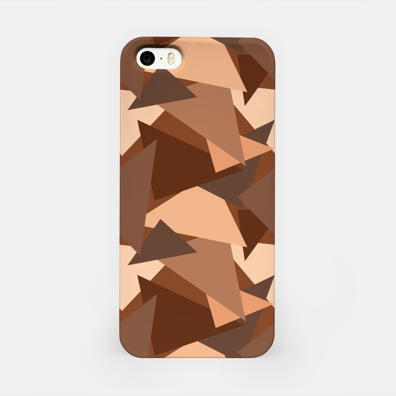 Image of Brown Chocolate Caramel  Triangles (Camouflage) iPhone Case - Live Heroes