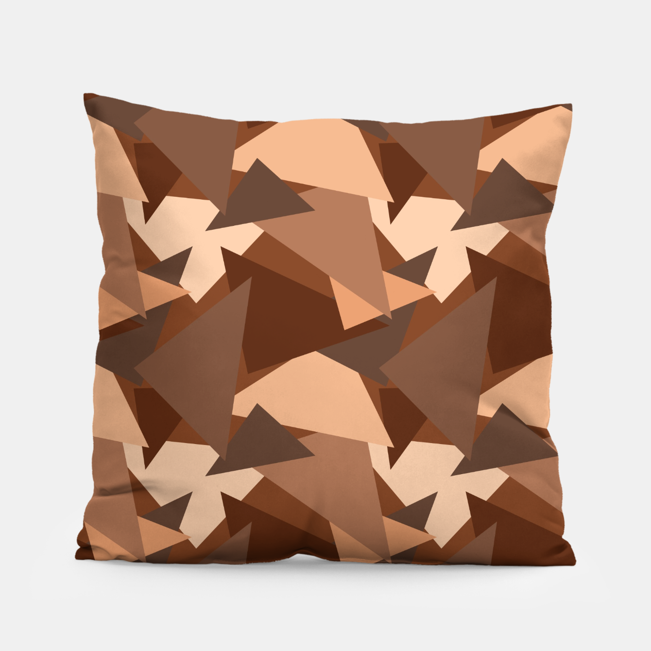 Image of Brown Chocolate Caramel  Triangles (Camouflage) Pillow - Live Heroes