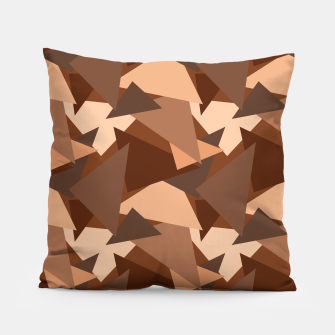 Miniature de image de Brown Chocolate Caramel  Triangles (Camouflage) Pillow, Live Heroes