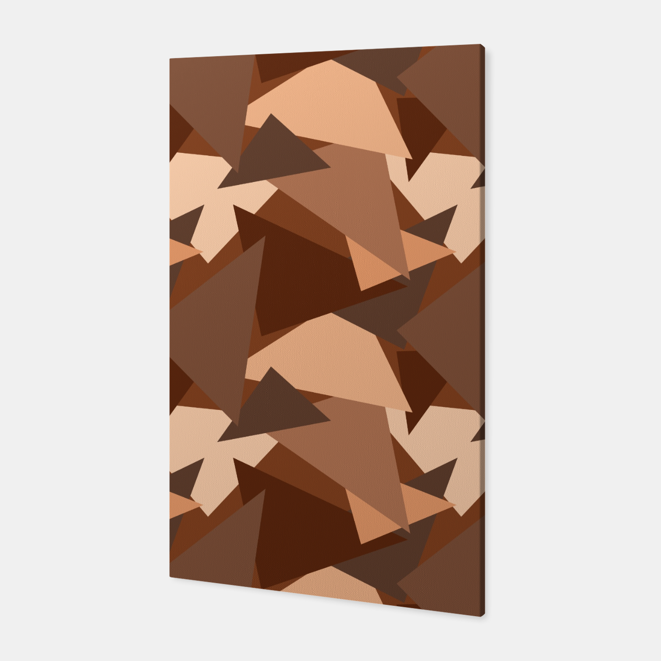 Image of Brown Chocolate Caramel  Triangles (Camouflage) Canvas - Live Heroes