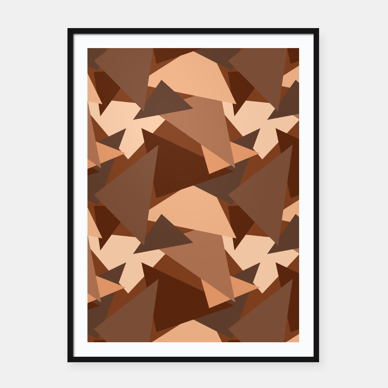 Image of Brown Chocolate Caramel  Triangles (Camouflage) Framed poster - Live Heroes