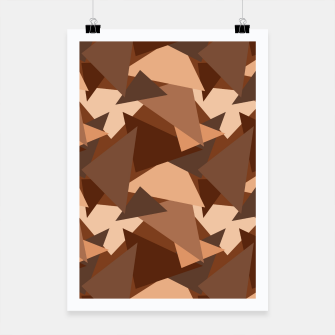 Miniature de image de Brown Chocolate Caramel  Triangles (Camouflage) Poster, Live Heroes