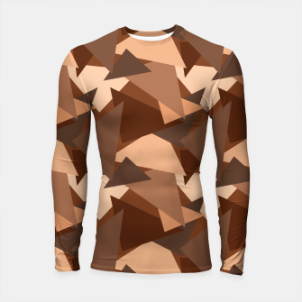 Thumbnail image of Brown Chocolate Caramel  Triangles (Camouflage) Longsleeve rashguard , Live Heroes