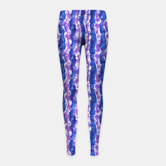 Thumbnail image of Seaweed Stripe (Blue, Violet & White) Girl's leggings, Live Heroes