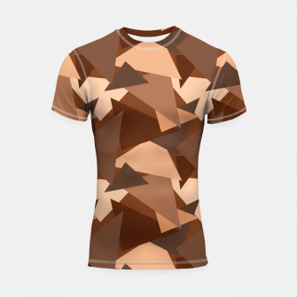 Miniature de image de Brown Chocolate Caramel  Triangles (Camouflage) Shortsleeve rashguard, Live Heroes
