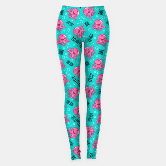 Japanese kawaii pattern Leggings obraz miniatury