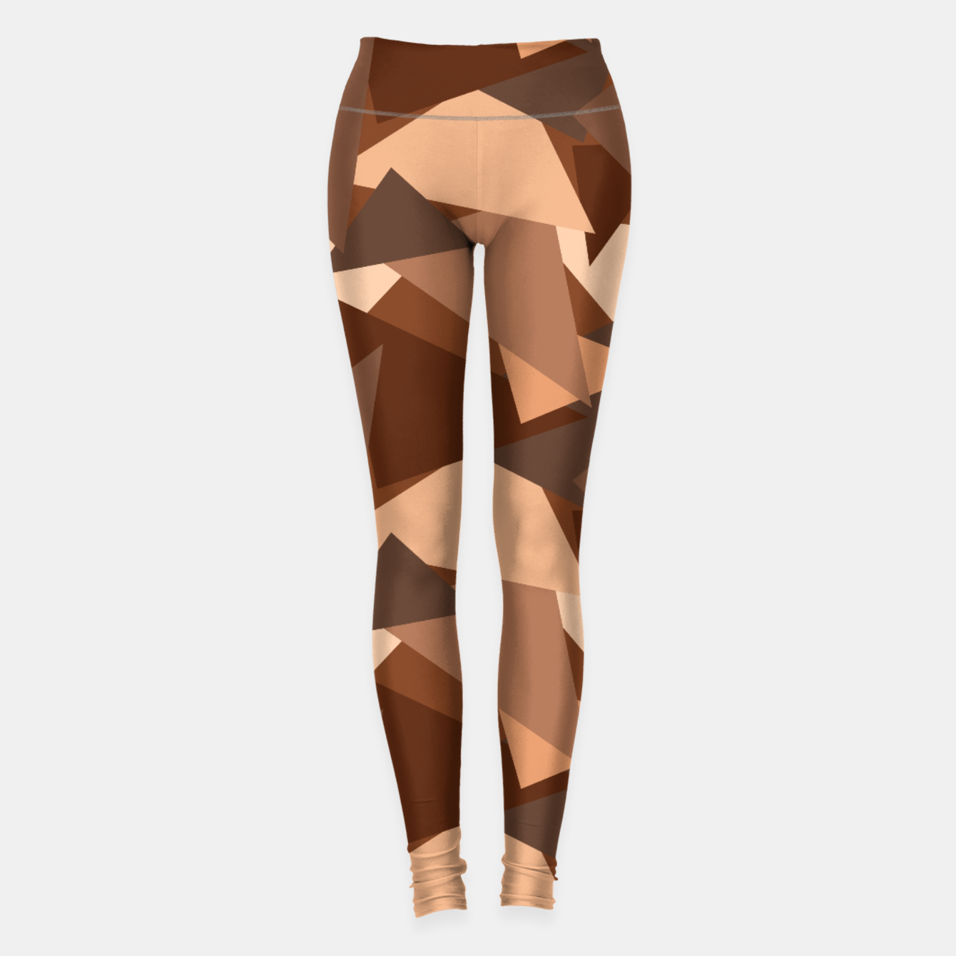 Image of Brown Chocolate Caramel  Triangles (Camouflage) Leggings - Live Heroes