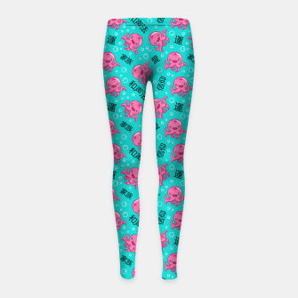 Thumbnail image of Japanese kawaii pattern Girl's leggings, Live Heroes
