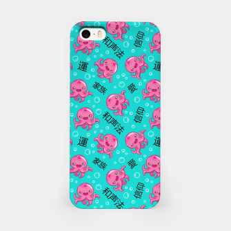 Miniatur Japanese kawaii pattern iPhone Case, Live Heroes