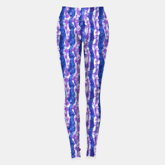 Thumbnail image of Seaweed Stripe (Blue, Violet & White) Leggings, Live Heroes