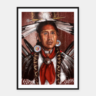 Thumbnail image of Pow Wow Dancer Framed poster, Live Heroes