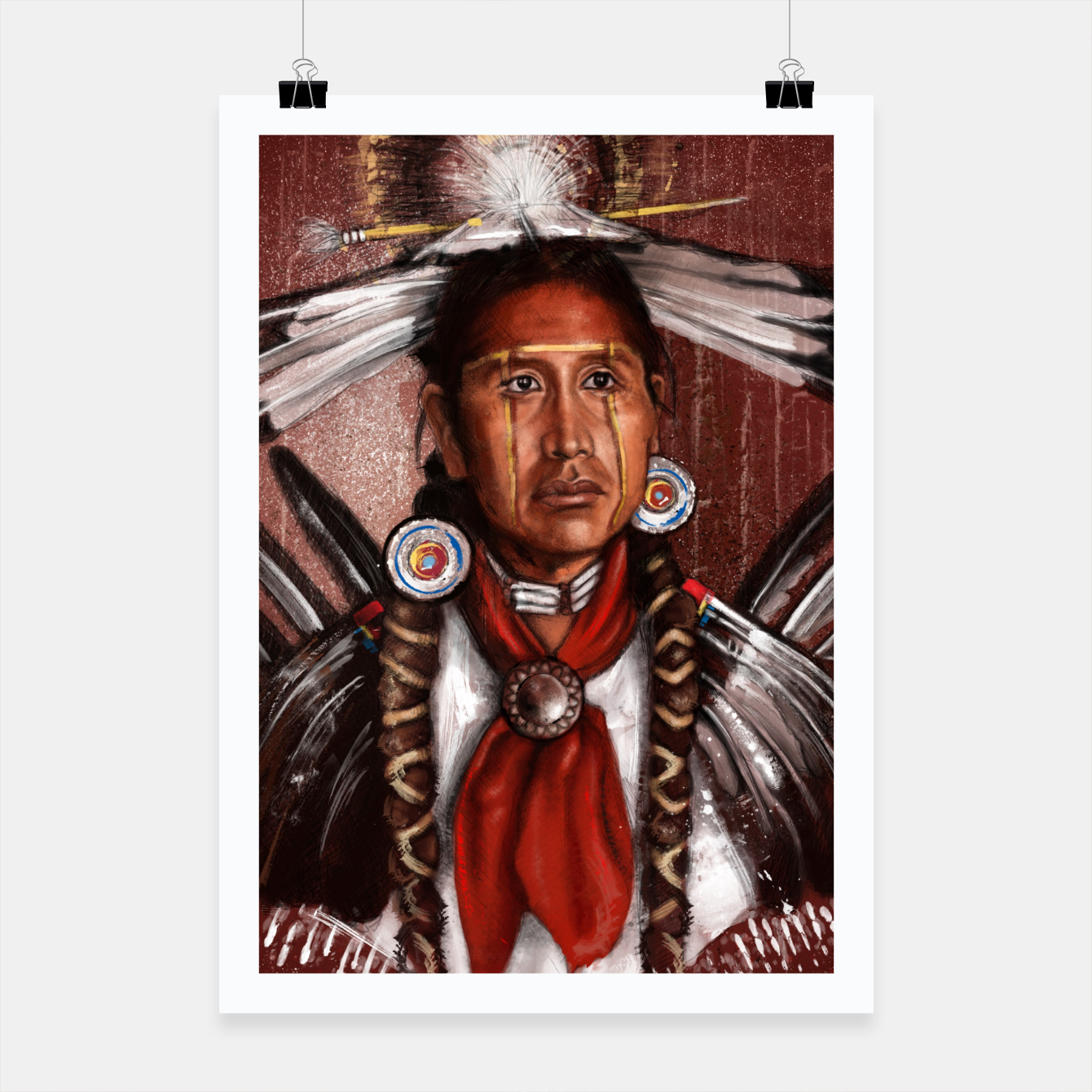 Image of Pow Wow Dancer Poster - Live Heroes