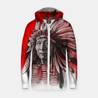 Thumbnail image of Red Cloud Cotton zip up hoodie, Live Heroes