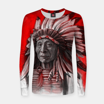 Thumbnail image of Red Cloud Woman cotton sweater, Live Heroes